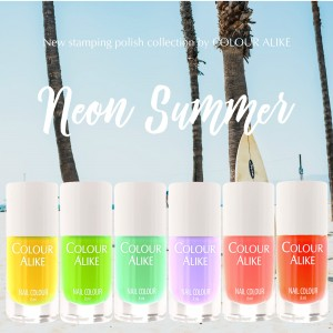 "133 - 138 ""Neon Summer"" stamping polish set"