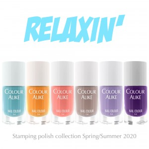 127 - 132 Relaxin' stamping polish set