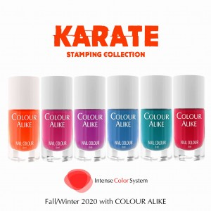 "139 - 144 ""Karate"" stamping polish set"