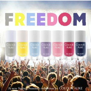 "153 - 159 ""Freedom"" stamping polish set"