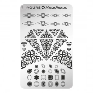 Diamonds are forever - stamping plate