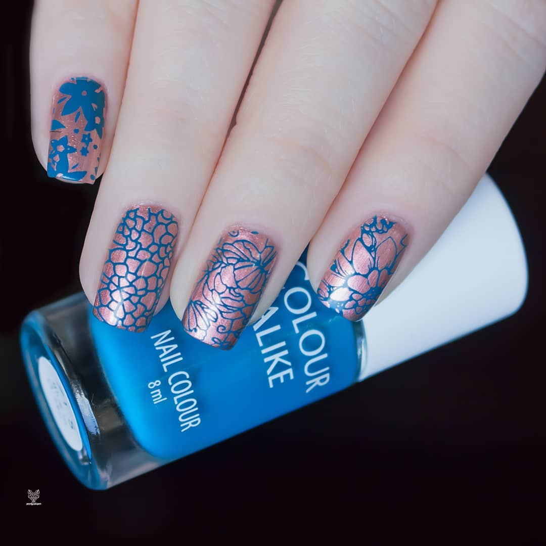 71 Blue in Green stamping polish